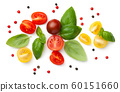 Composition With Fresh Cherry Tomatoes Isolated 60151660