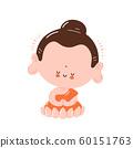Cute happy smiling Buddha meditate 60151763