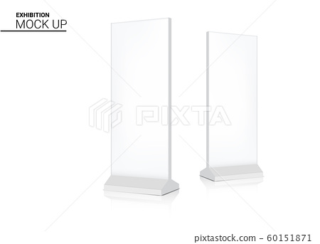 Mock up Realistic Roll up Banner Kiosk Display 3D 60151871