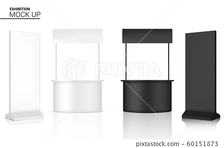 3D Mock up Realistic Kiosk Display POP Booth for 60151873