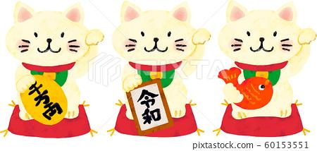 蠟筆風格的招財貓 60153551