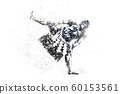 sumo wrestler abstract silhouette 1 bitmap ver. 60153561