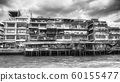 Old, wooden, traditional houses in Bangkok 60155477