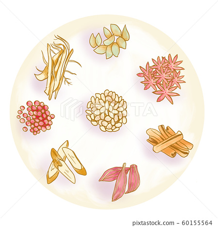 Herbal medicine, herbal medicine illustration 02 60155564