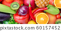 Background from the collection of fruits and 60157452