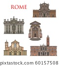 Rome architecture landmarks, Italy buildings 60157508