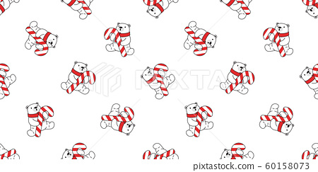 Bear Seamless Pattern Christmas Polar Vector Stock Illustration 60158073 Pixta