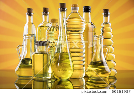 Oil products, Extra virgin olive, sunflower seed, 60161987