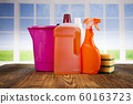Cleaning products and window background 60163723
