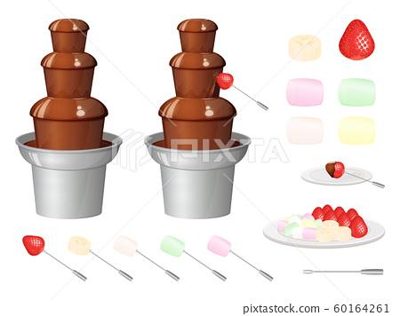 巧克力噴泉illustration_set 60164261