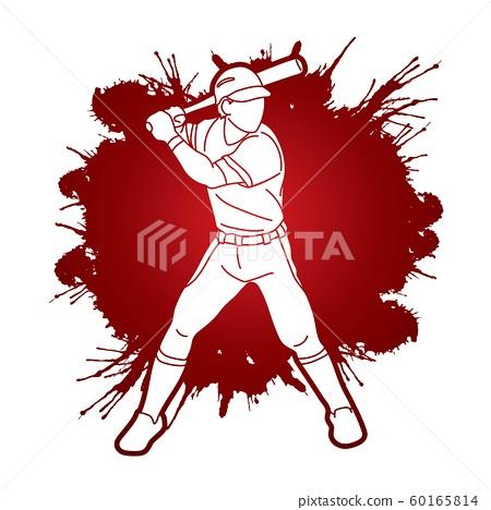 Baseball player action cartoon sport graphic vector. 60165814