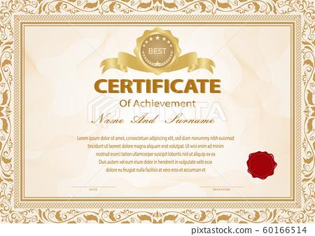 Certificate vintage 60166514