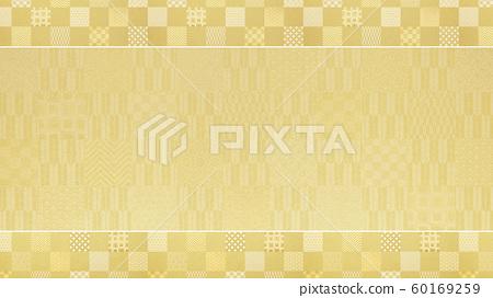 Background-Japanese-Japanese style-Japanese pattern-Japanese paper-Gold leaf-Pattern-Checkered pattern-Frame 60169259