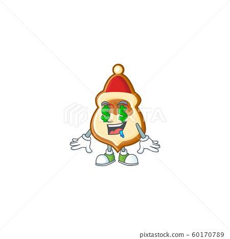 Christmas hat cookies with Money eye cartoon character design 60170789