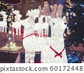 Christmas decoration Reindeer lighting with Xmas tree Festival holiday 60172448