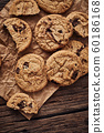 Chocolate chip cookies, Sweet biscuits, Concept 60186168
