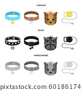Vector design of pet and accessories logo. Set of pet and shop vector icon for stock. 60186174