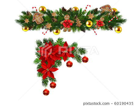 Vector Christmas Fir Decoration isolated 60190435