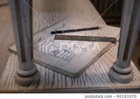 Making furniture from wood. Work carpenter. Carpentry tools. 60191070