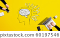 Brain illustration with people working together 60197546