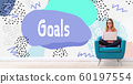 Goals with woman using a laptop 60197554
