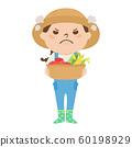 職業的例證。女農民。憤怒的女人。 60198929