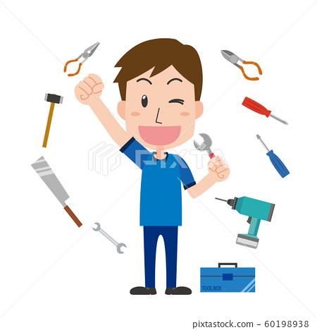 DIY木匠DIY男性作業工具 60198938