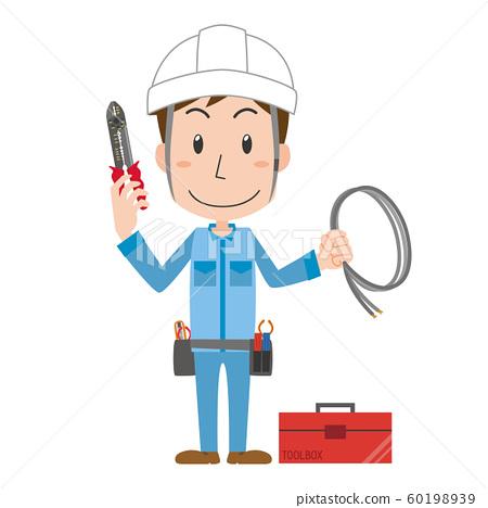 전기 기술자 전기 작업자 작업자 남성 60198939