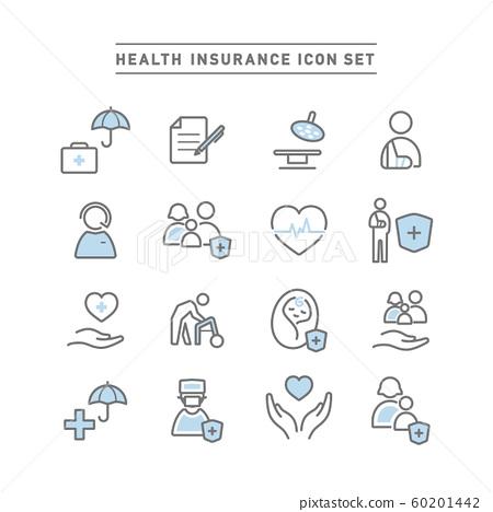 HEALTH INSURANCE ICON SET 60201442