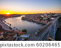 cityscape of porto in portugal at dusk 60206465