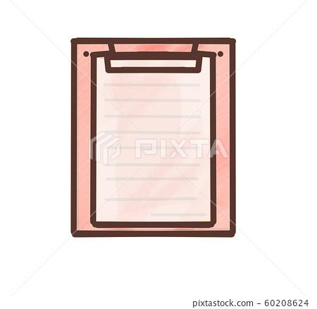 Questionnaire paper pastel red 60208624