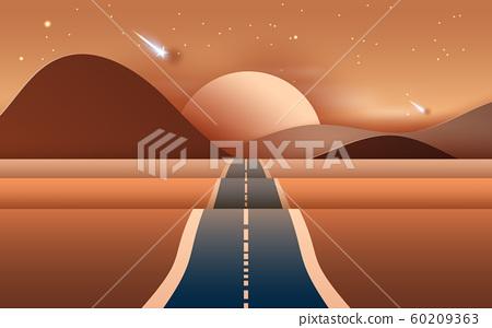 3D illustration of  Landscape with road  60209363
