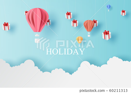 Landscape of balloons colorful fly and Mobile 60211313