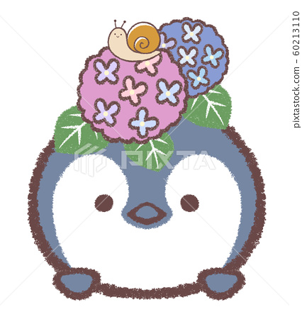 企鵝Hina六月繡球和蝸牛 60213110