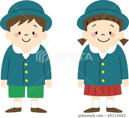 Admission ceremony kindergarten children (uniform) 60215682