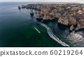 Aerial. Beautiful views of beaches of Lagos Town, from the sky. Portugal 60219264