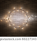 Christmas decorative realistic garland with shiny  60227343