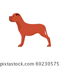 Dog side view vector icon illustration pet. cute 60230575