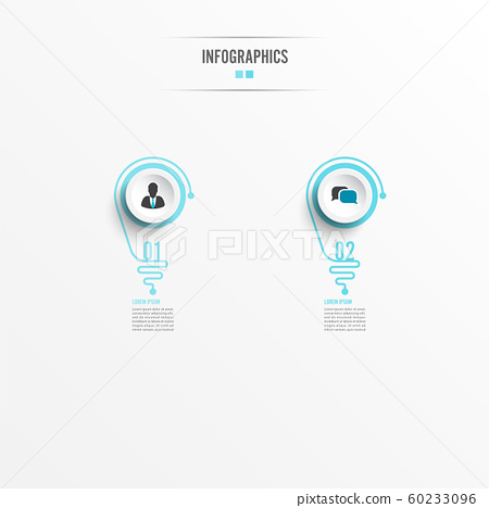 Abstract infographic with light bulb. Infographics 60233096