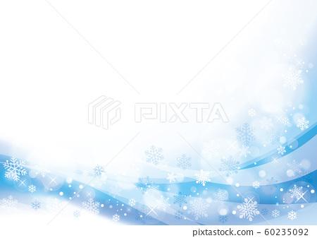 雪和光的冬天背景淺藍色 60235092
