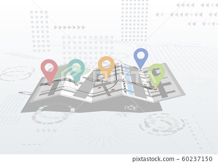 벡터 일러스트 디자인 ai eps 맵 이미지 마커 포인트 거리 60237150