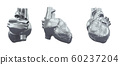 3d rendering illustration of heart 60237204