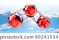 3d Rendering of a carbon dioxide molecule, 60241534