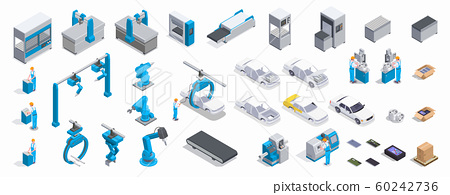 Industrial Equipment Isometric Set 60242736
