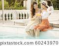 女士旅行度假區泳池現場 60243970