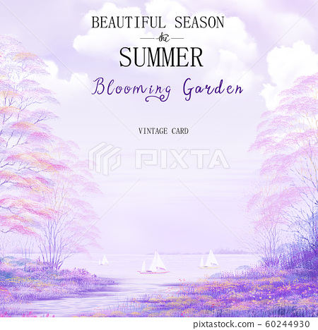 Electricity owner Yui beautiful purple-colored lake view summer season. 60244930