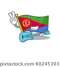 Supper cool flag eritrea cartoon character performance with guitar 60245303