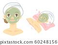 Olive face pack (seaweed pack, mud pack, green tea pack) 60248156