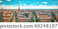 Beautiful panoramic view of Paris from the roof of 60248197
