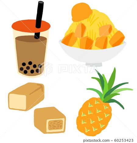 台灣糖果木薯菠蘿蛋糕芒果刨冰 60253423